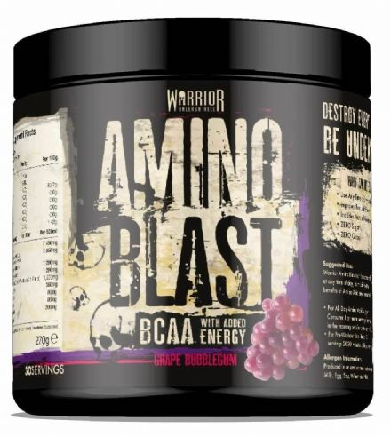Warrior Amino Blast BCAA Powder; 30 Servings Intra Workout, Amino Acids